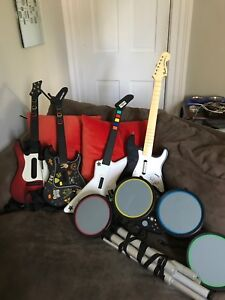 Guitar Hero and Rockband accessories