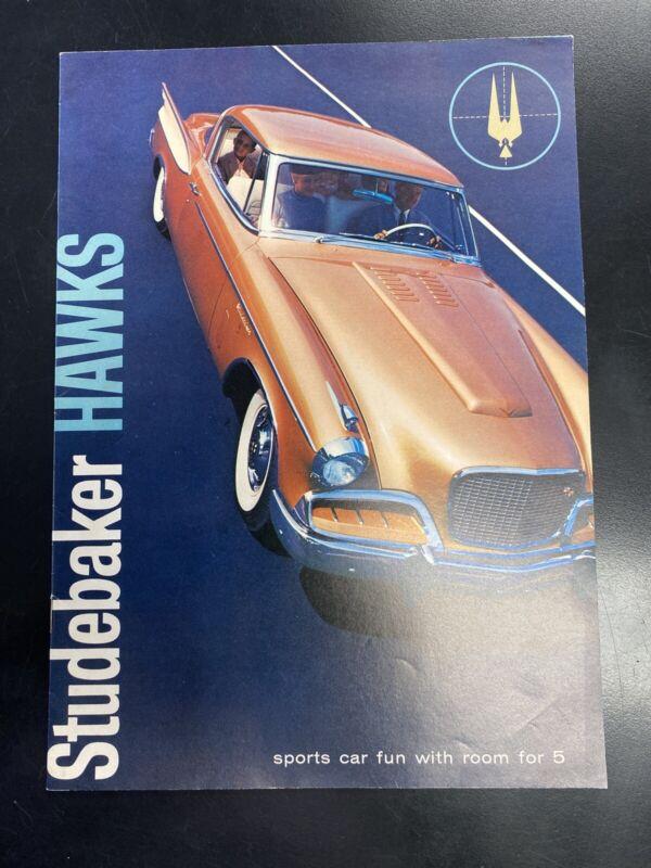 Vintage 1957 Studebaker Hawk Dealer Sales Marketing Brochure Catalog Car Auto