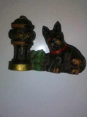 Vtg Bakelite Era Wood Scottie Dog Fire Hydrant Brooch 1930's *open clasp Lot 2