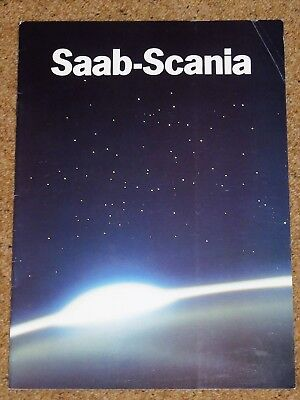 1984 SAAB SCANIA Sales Brochure - Saab 9000, Scania Truck, Aircraft, Satellite