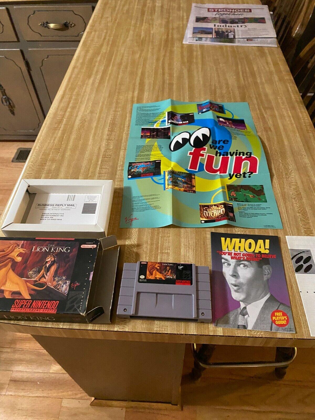 The Lion King SNES Super Nintendo  - $15.05