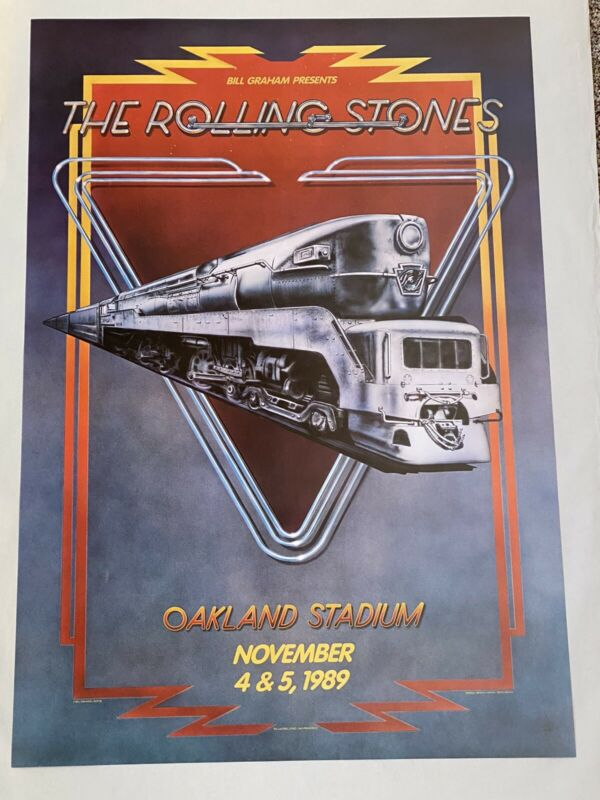 Rolling Stones Concert Poster From The 1980's! Never Displayed STEEL WHEELS