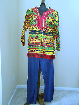 Teen Hippie Costume Small Retro - Hippie Teen Kostüm
