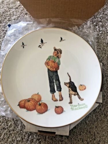 Norman Rockwell Plate Fall Pilgrimage  1977 Limited edition