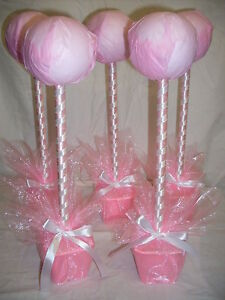 5 X Baby pink sweet tree kits  table centers christening wedding birthday party