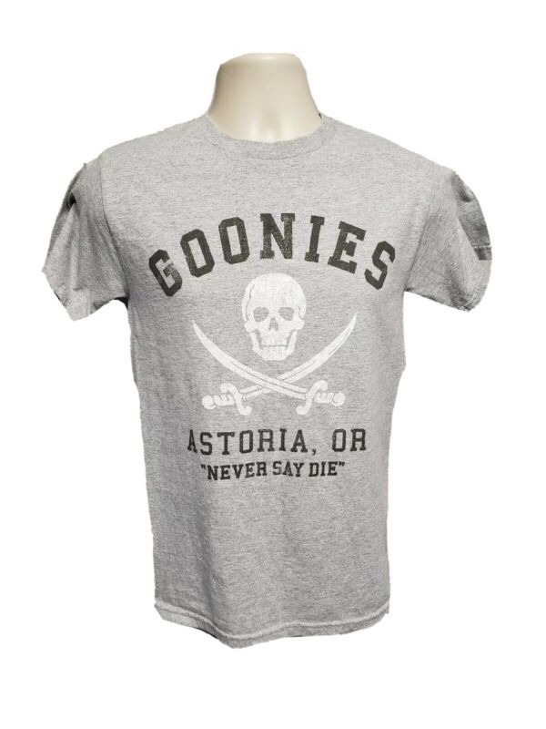 Goonies Astoria or Never Say die Adult Small Gray TShirt