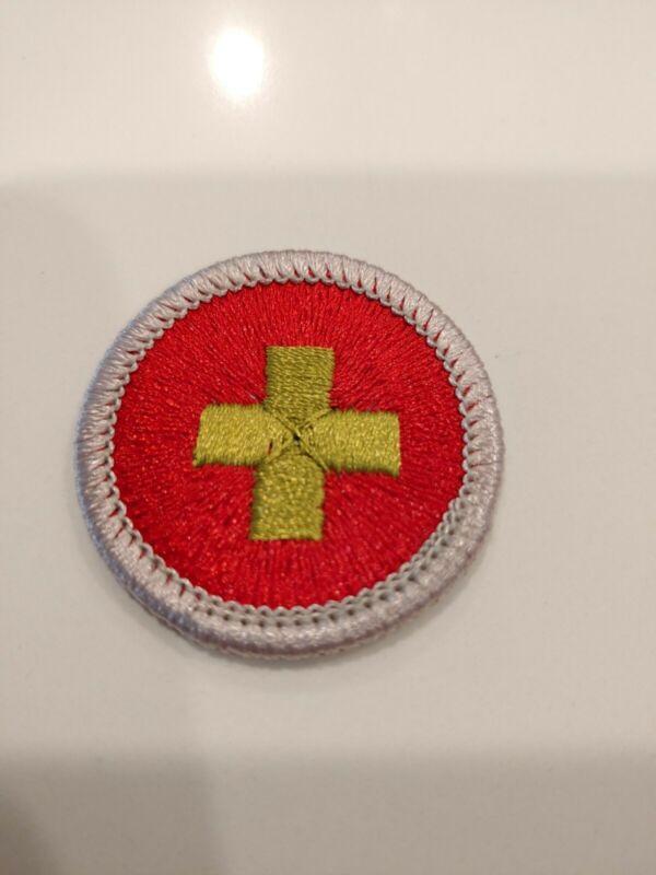 BSA First Aid Merit Badge (Plastic Back)