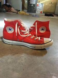 Red/orange converse chuck Taylor's