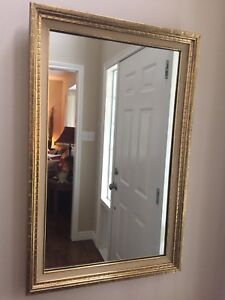 Large decorative mirrors  bevelled glass)