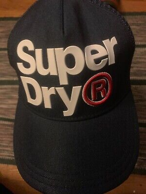 SUPERDRY LINEMAN TRUCKER NAVY BASEBALL CAP MEN'S HAT AUTHENTIC ONE SIZE FITS ALL