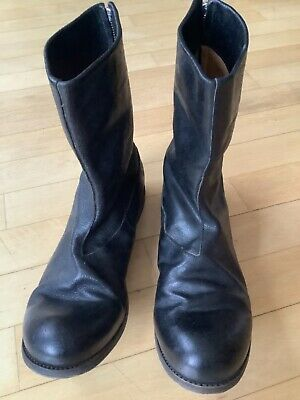 A1923 A Diciannoveventitre Back zip Boots Horse Leather New UK 9 IT 43