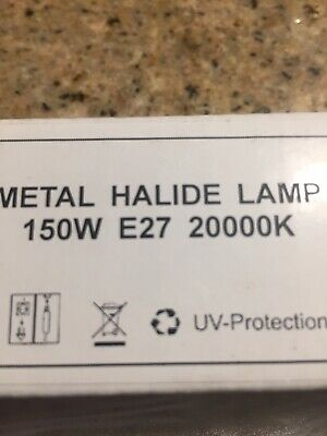 - 150-Watt Metal Halide Lamp Light Bulb 150watt-MH 20000K E27 Marine Reef Aquarium