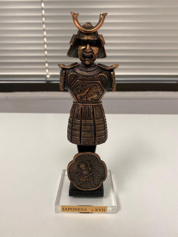 Japanese Samurai Suit Of Armor Metal Figurine Statue Collectible Martespa - NEW
