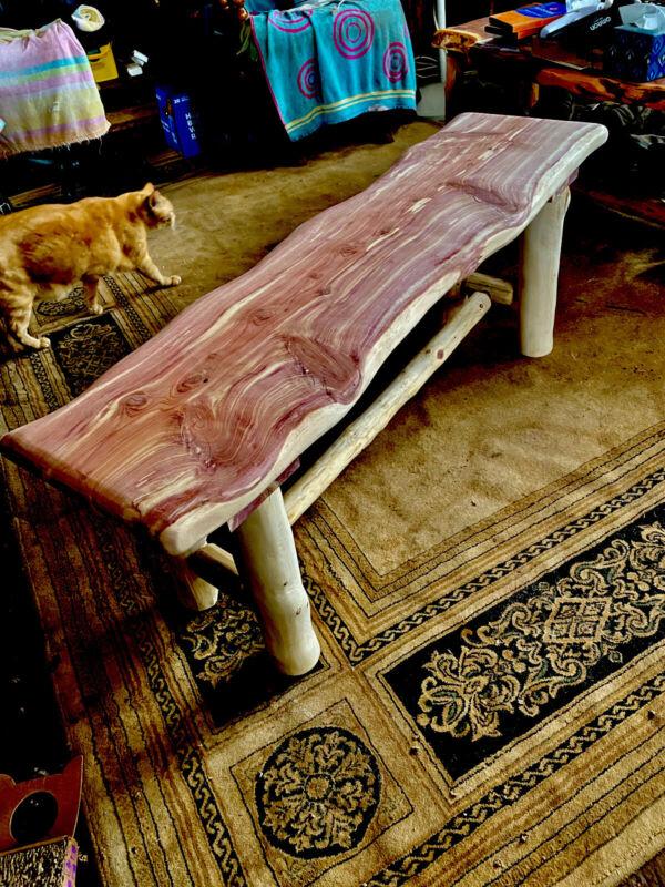 """Rustic Cedar Bench 47 1/2"""" Long By 14 in Wide 18 in Tall"""