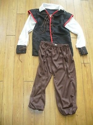 HALLOWEEN  COSTUME--BUCCANEER PIRATE TOP  AND PANT--SZ CHILD--SM-4--6-