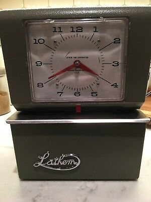 Vintage Lathem Time Clock