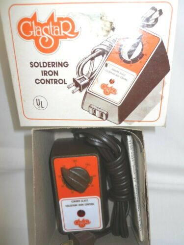 New NOS Glastar Stained Glass Soldering Iron Control NIB Model 1001 C24