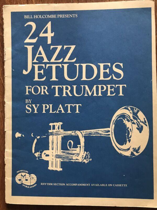 24 Jazz Etudes For Trumpet By Sy Platt