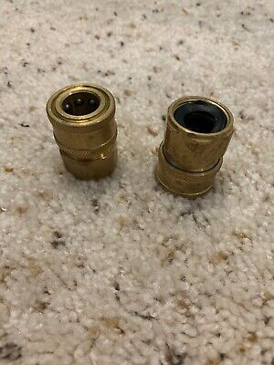 Ridge Washer Pressure Washer Coupler Brass Fittings 14 Inch Quick Connect To
