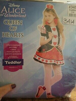 Queen Of Hearts Toddler Costume (Queen of Hearts Costume Toddler 3-4)