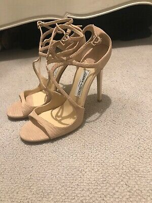 Authentic Jimmy Choo Lance Nude Heels 41 Brand New