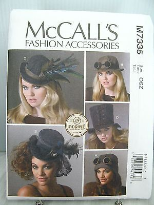 Steampunk Cosplay Feather Corset Tied Top HAT CAP PATTERN McCall's M7335 OSZ