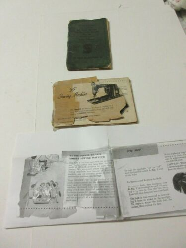 Two Manuals for Operating Singer Portable Electric Sewing Machine with Knee cont