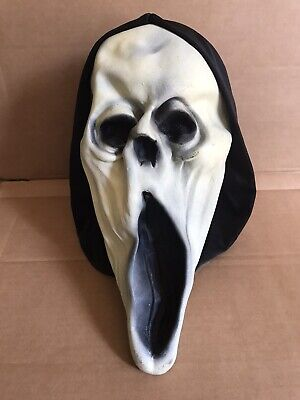 Vintage Halloween Hooded Ghoul Mask Paper Magic Group Excellent Condition