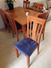 6 Dining chairs with matching dining table Lane Cove North Lane Cove Area Preview