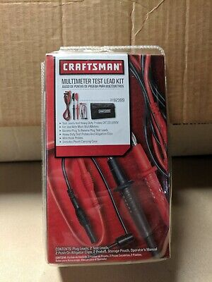 Craftsman 82399 Test Lead Kit With Storage Pouch Works In Fluke Others Universal