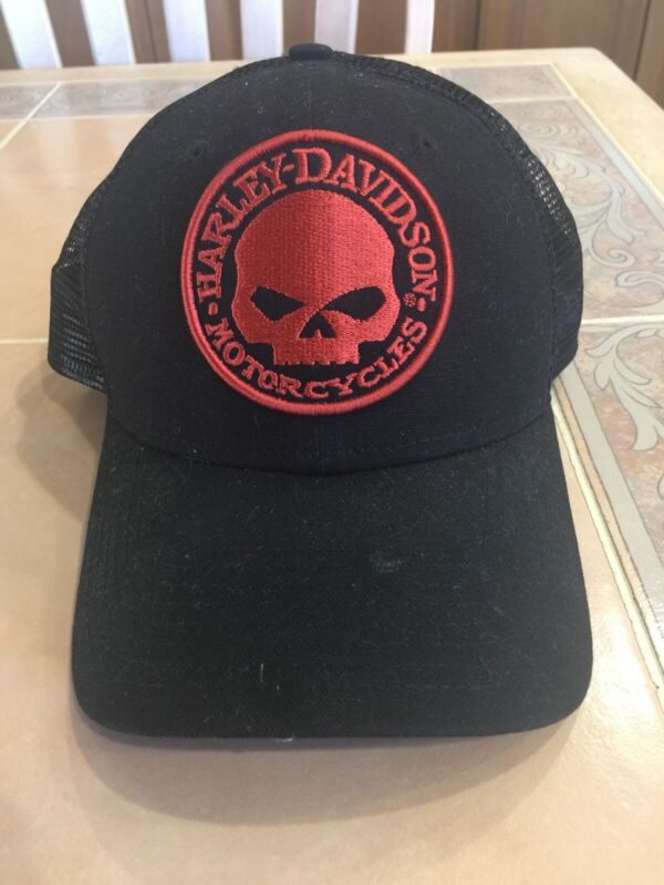 HARLEY DAVIDSON CAP WITH SKULL ADJUSTABLE SIZE