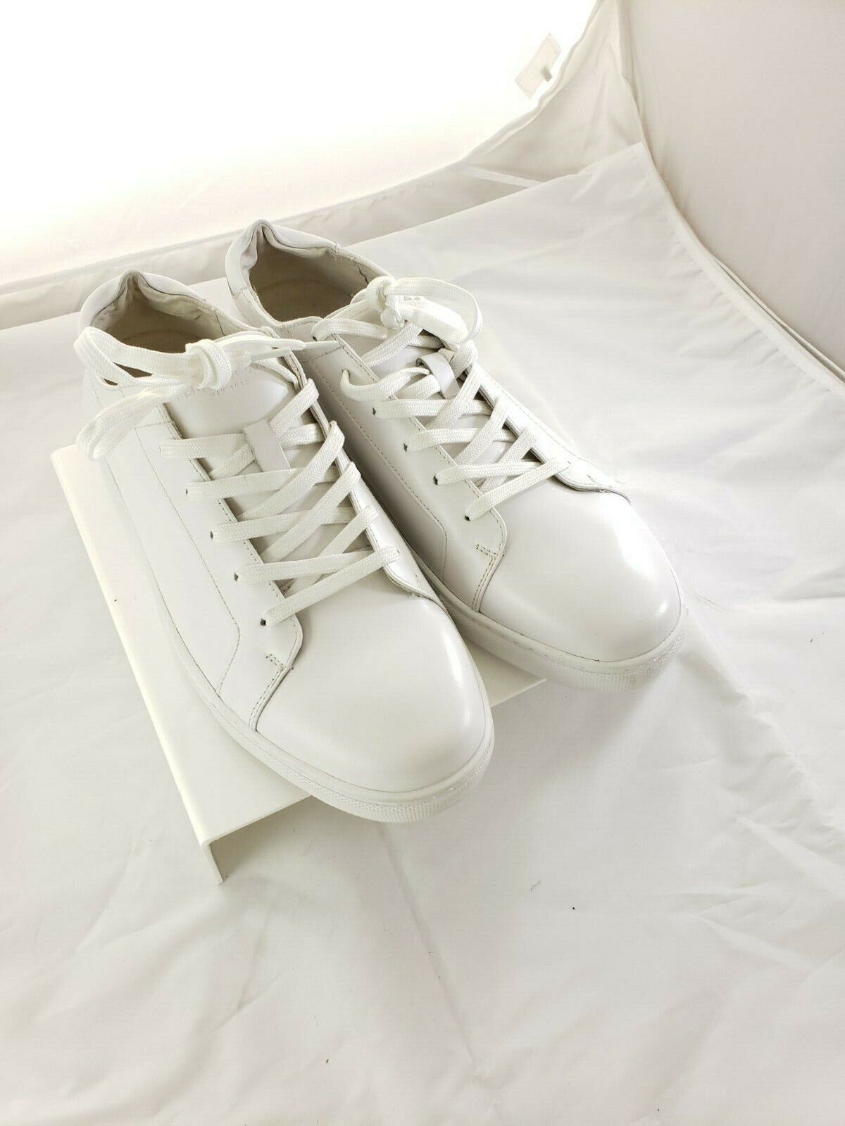 Kenneth Cole New York Kam Pride Mens Lace Up Sneakers White Multi 10 M