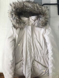 Thick winters coat with fur hood
