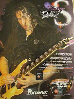 DragonForce, Herman Li, Prestige Guitars, Full Page Promotional Ad