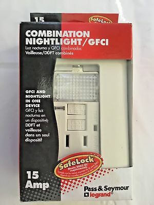 Pass & Seymour Gfci Outlet Led Nightlight, Eye, Grounding 15 Amp High End Item ()