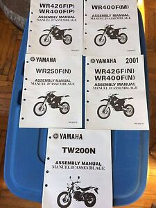 Assorted Yamaha TW WR Assembly Manuals