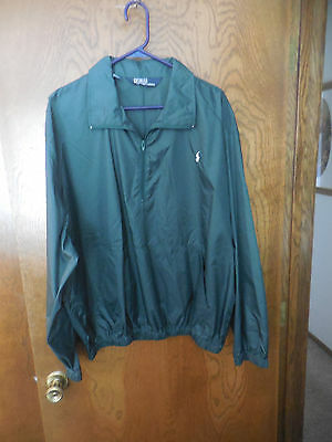 Ralph Lauren Men's Quarter Zip Pullover Lightweight Wind Jacket  Sz. XL