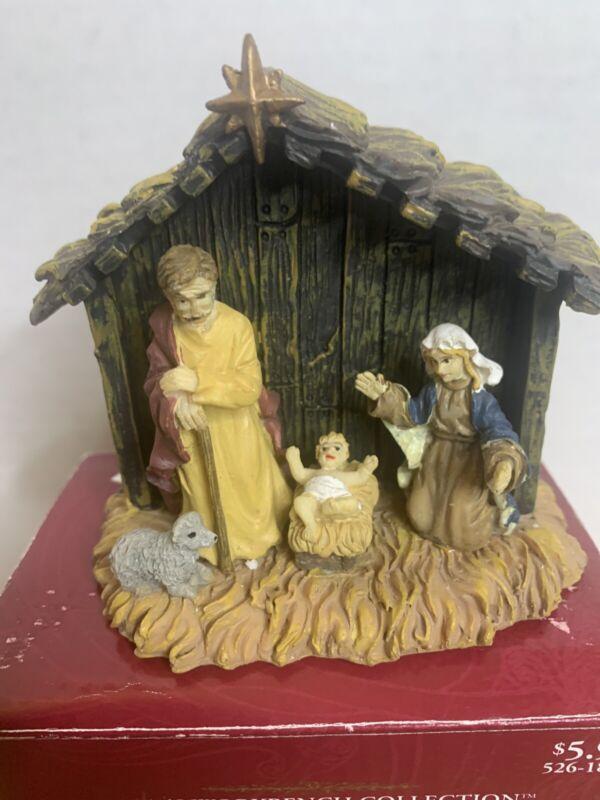 """Ceramic Santas Workbench Collection """"CRECHE"""" NATIVITY SCENE  in BOX Free Ship"""