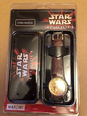 Star Wars Episode 1 - Coin Watch - Watch It - C-3PO Film Merchandise Leather