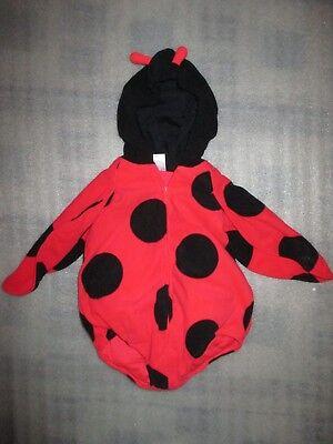 Carter's Infant Girls Halloween Costume Plush Ladybug Fluffy Belly Vest 12M