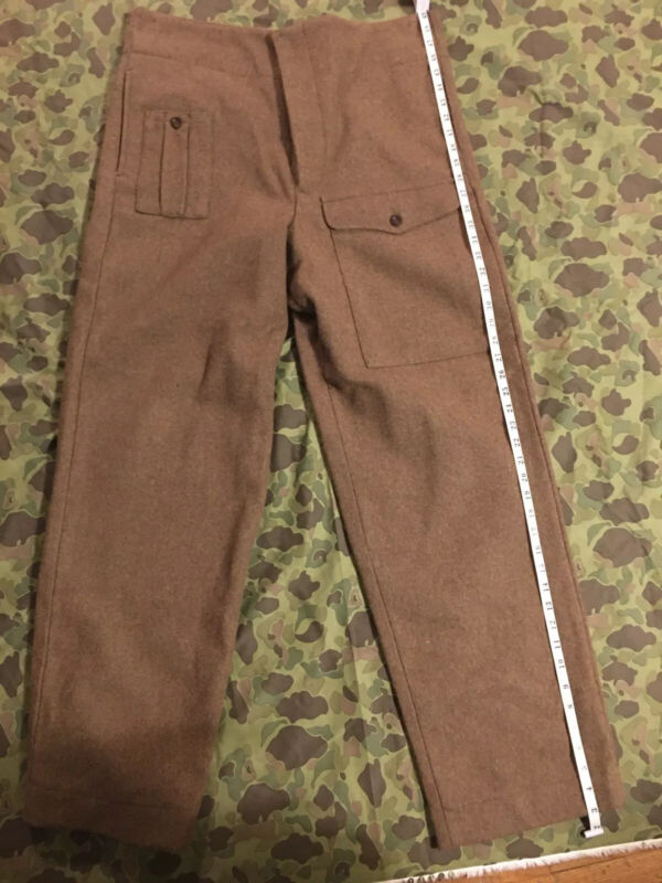 Ww2 Reprouduction British Army P-37 Pants Size 42 Long