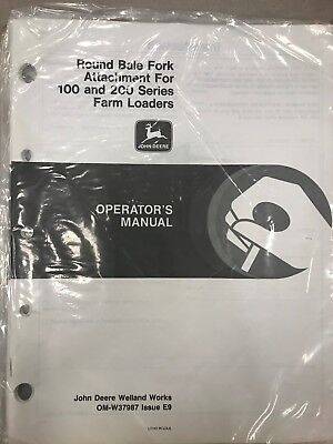 John Deere Operators Round Bale Fork For 100 200 Farm Loaders Omw37987