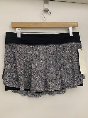 Lululemon Quick Pace Skirt NWT Size 10 SADC Grey Multicolor Luxtreme Medium Rise
