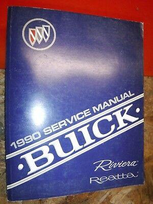 1990 BUICK RIVIERA REATTA ORIGINAL FACTORY SERVICE MANUAL SHOP REPAIR CLEAN