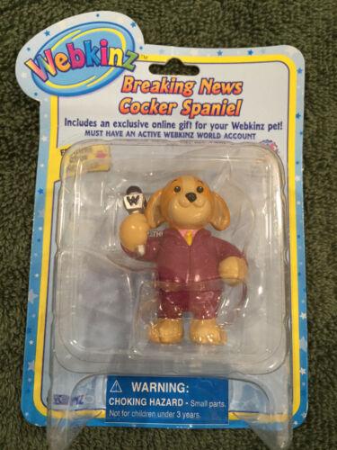 NEW Webkinz Ganz Breaking News Cocker Spaniel Figurine Feature Code Enclosed