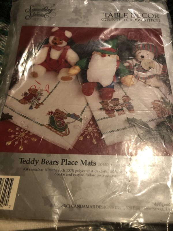 Something Special Teddy Bears Place Mats Counted Cross Stitch Kit