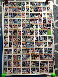 1990/91 O-Pee-Chee OPC Hockey Uncut Sheets Complete Set Stratford Kitchener Area image 1