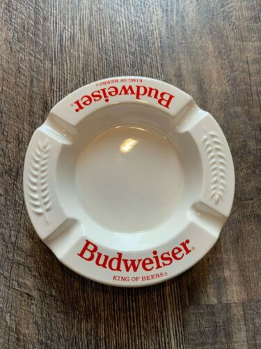 VINTAGE HAEGER POTTERY BUDWEISER ASHTRAY - FABULOUS!