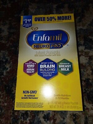 ENFAMIL NEURO PRO INFANT FORMULA 31.4 OZ TOT (2X 15.7OZ) POWDER POUCHES