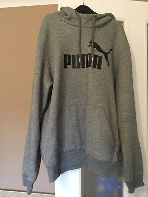 Men's Puma Hoodie Grey - Medium